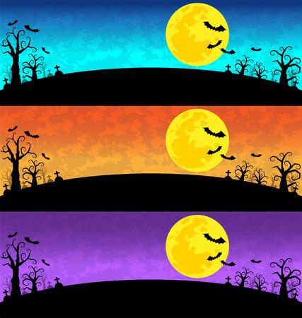 full frames: Halloween Background set