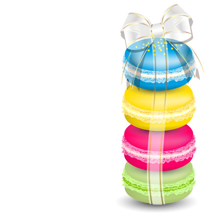 meringue: Macaroons and ribbon
