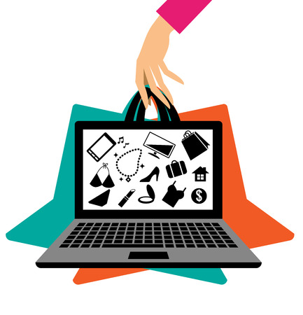 app banner: Shopping online concept