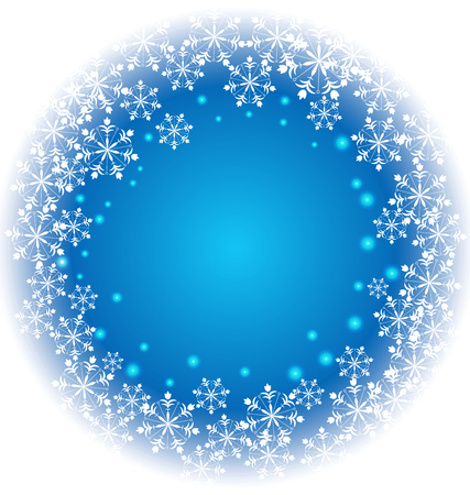 lust: Abstract Snowflakes on blue background