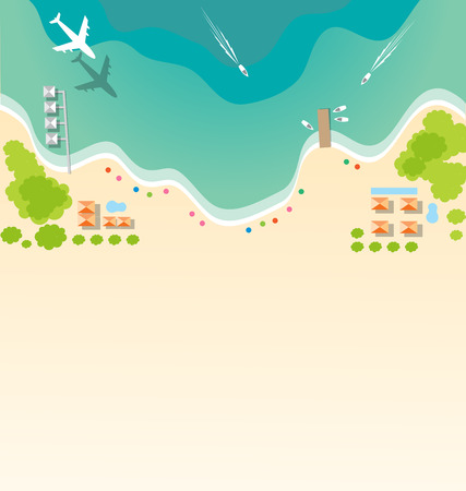 Paradise tropical beach background for summer concept Illustration