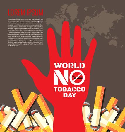 prohibido fumar: Fondo Día Mundial Sin Tabaco para el Día Mundial Sin Tabaco