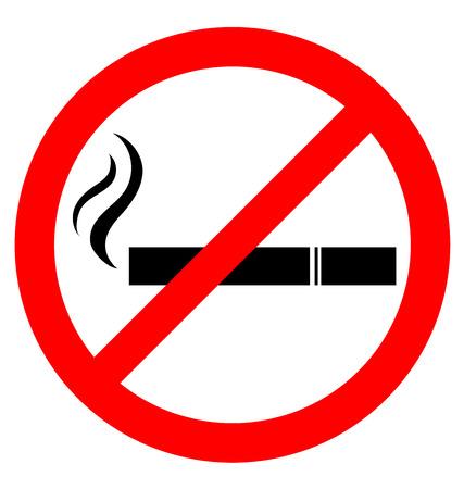Prohibir fumar signo para el Día Mundial Sin Tabaco