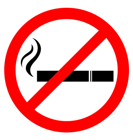 prohibiting: Prohibiting smoking sign for World No Tobacco Day