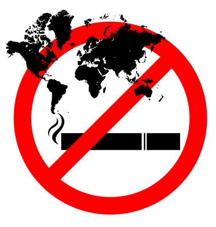prohibiting: Abstract prohibiting smoking sign for World No Tobacco Day