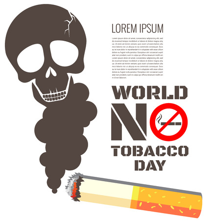 smokers: Skull shaped smoke with cigarette for World No Tobacco Day