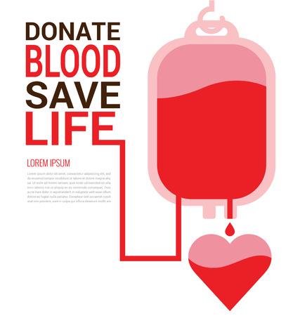포스터를위한 세계 헌혈자의 날 개념