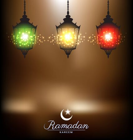 Colorful bright lamp for ramadan festival