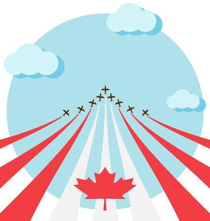 航空ショー: 航空ショーのカナダの建国記念日を祝う