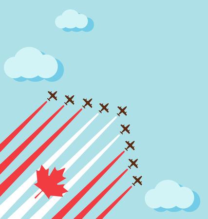 航空ショー: 空気のために空を祝うためカナダの国民の日