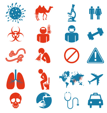 Icon vertor set of Mers virus