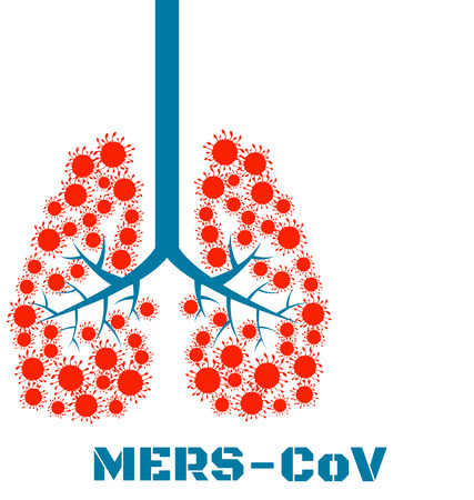 infection prevention: Mers virus respiratory pathogens vector Illustration