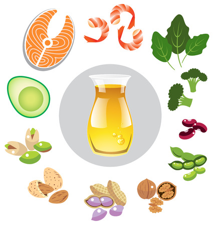 fat: Best sources of omega 3 vector