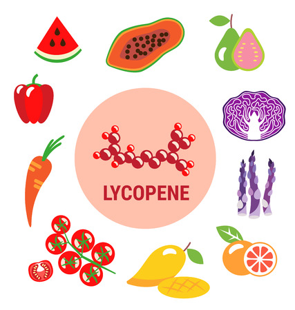 lycopene: Best sources of Lycopene in fruits and vegetables Illustration