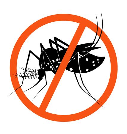 prohibition: Signe d'interdiction pour les moustiques arrêt