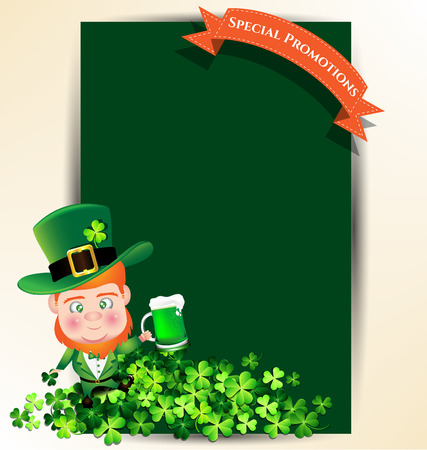 st  patrick s day: Man holding green beer juk for St Patrick s day party promotion