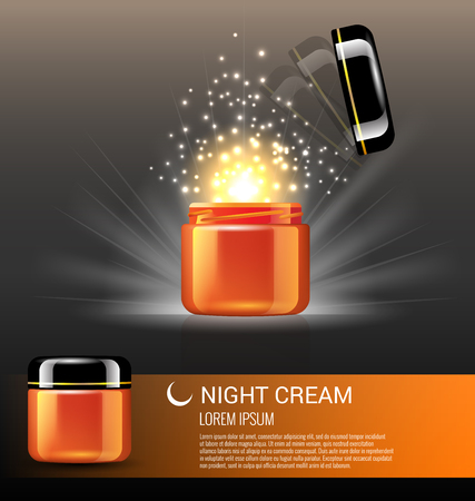 Best night cream products for skin care with miracle light