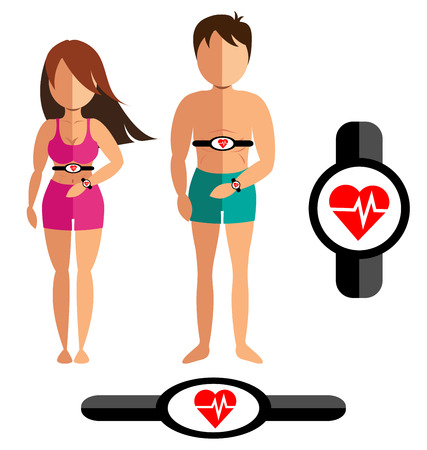 heart rate: Smart heart rate monitor for healthy man and women
