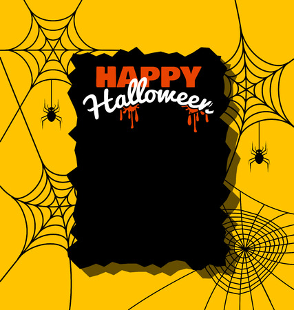 halloween spider: background with spider web for Halloween day