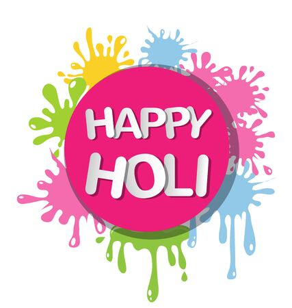 Abstract colorful for Happy Holi invitation and greeting card. Иллюстрация