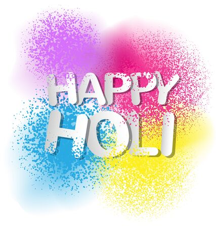 Gulal for Happy Holi invitation and greeting card.