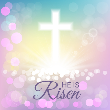 Bright and shining with He is risen text for Easter day