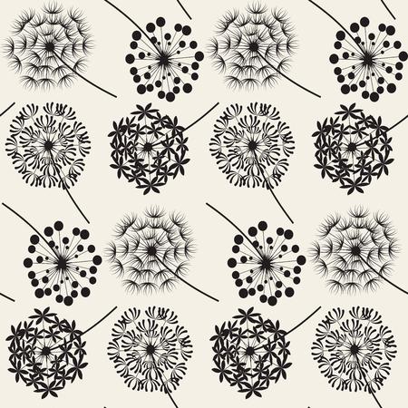 Abstract Dandelions seamless patterns for spring season Фото со стока - 76048900