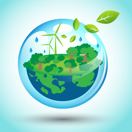 Abstract eco friendly world for Earth Day