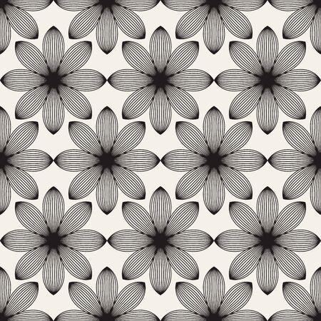 Abstract Lotus flowers seamless patterns Фото со стока - 76048902