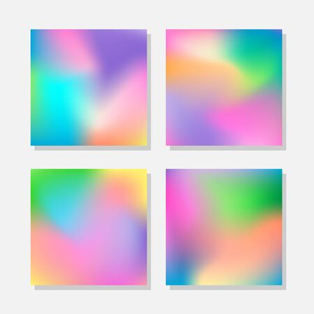 Set of blurred abstract colorful backgrounds