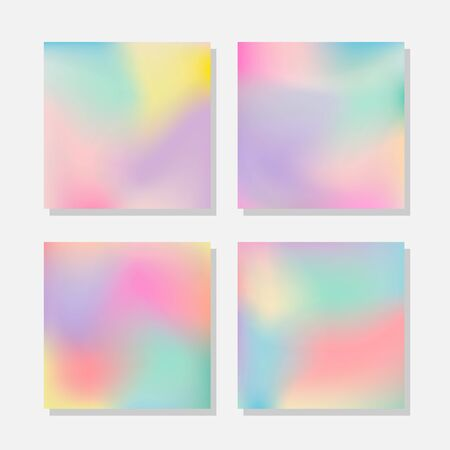 Set of blurred abstract pastel color backgrounds Иллюстрация