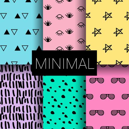 Set of abstract minimal seamless patterns