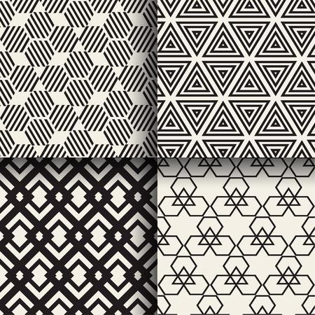 Set of abstract geometric seamless patterns design Фото со стока - 75894419