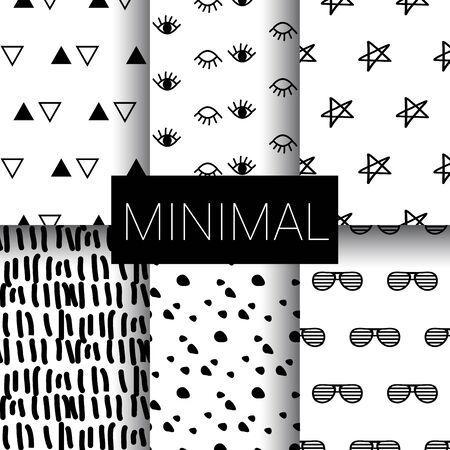 Set of minimal seamless patterns design
