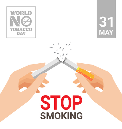 World No Tobacco Day poster for stop smoking concept Фото со стока - 75555692