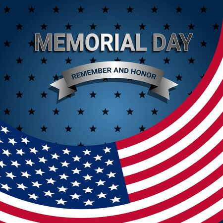 American Flag for Memorial day poster