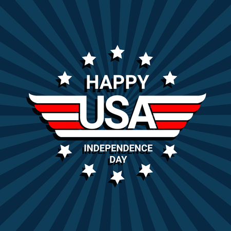 Happy independence day of USA celebration