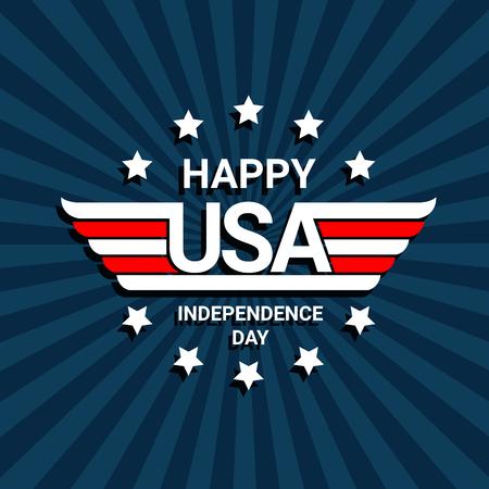 Happy independence day of USA celebration Фото со стока - 78077373