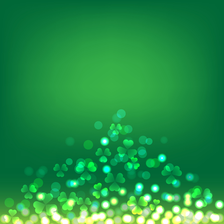 Shamrock bokeh on green background for St Patrick's Day celebration Фото со стока - 96329463