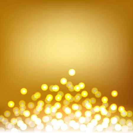 Beautiful Gold Bokeh and Lights abstract background