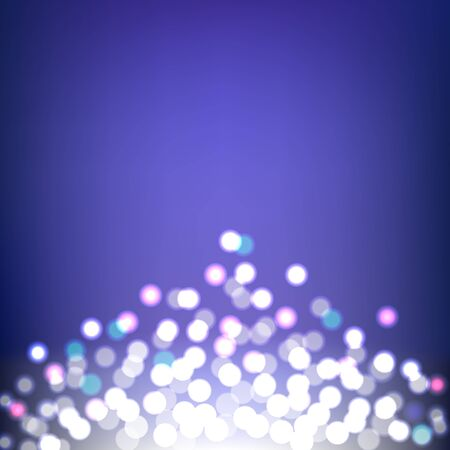 Colorful Bokeh and Lights abstract on blue background