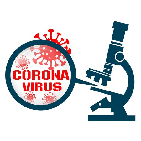 Microscope with coronavirus