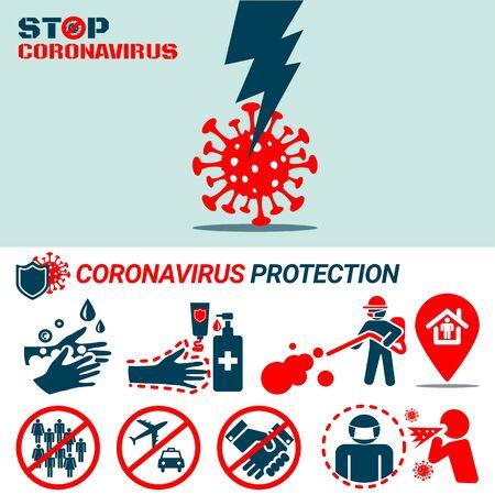 Coronavirus Covid19 protection concept