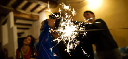recurrence: Stars at New Year Stock Photo