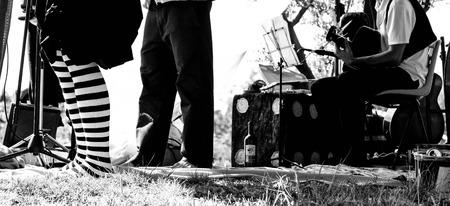 folk music: A traditional folk music festival  Stock Photo