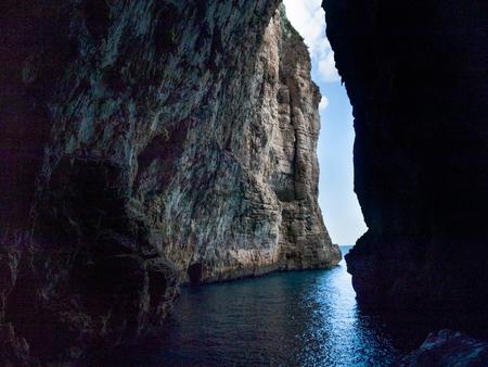 Montagna spaccata cave in Gaeta italy