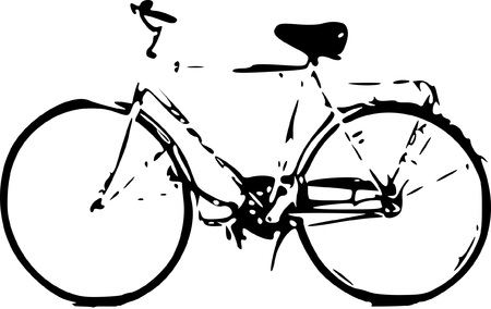 Bike sketch vector illustration isolated.