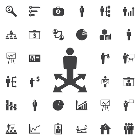 Business way Icon. Business icons set