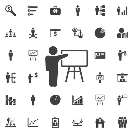 study group: Training icon. Business icons set