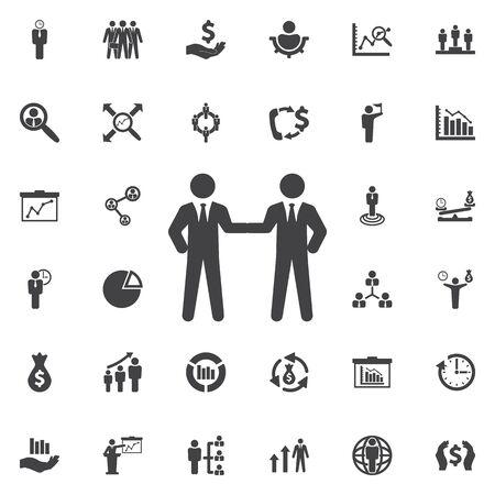 icon: Friendly handshake icon. Business icons set
